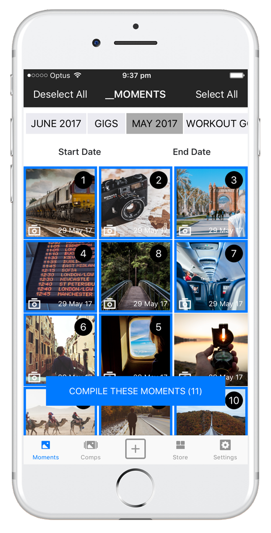 RELIVIT APP - Easily capture, merge and share life's best moments